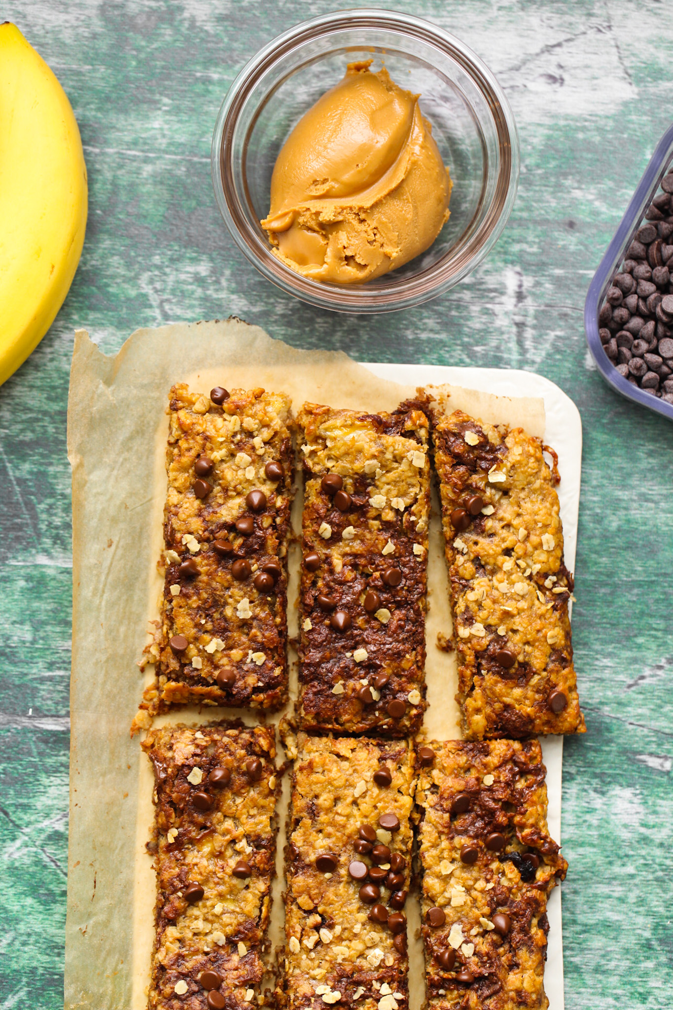vegan granola bars with nut butter