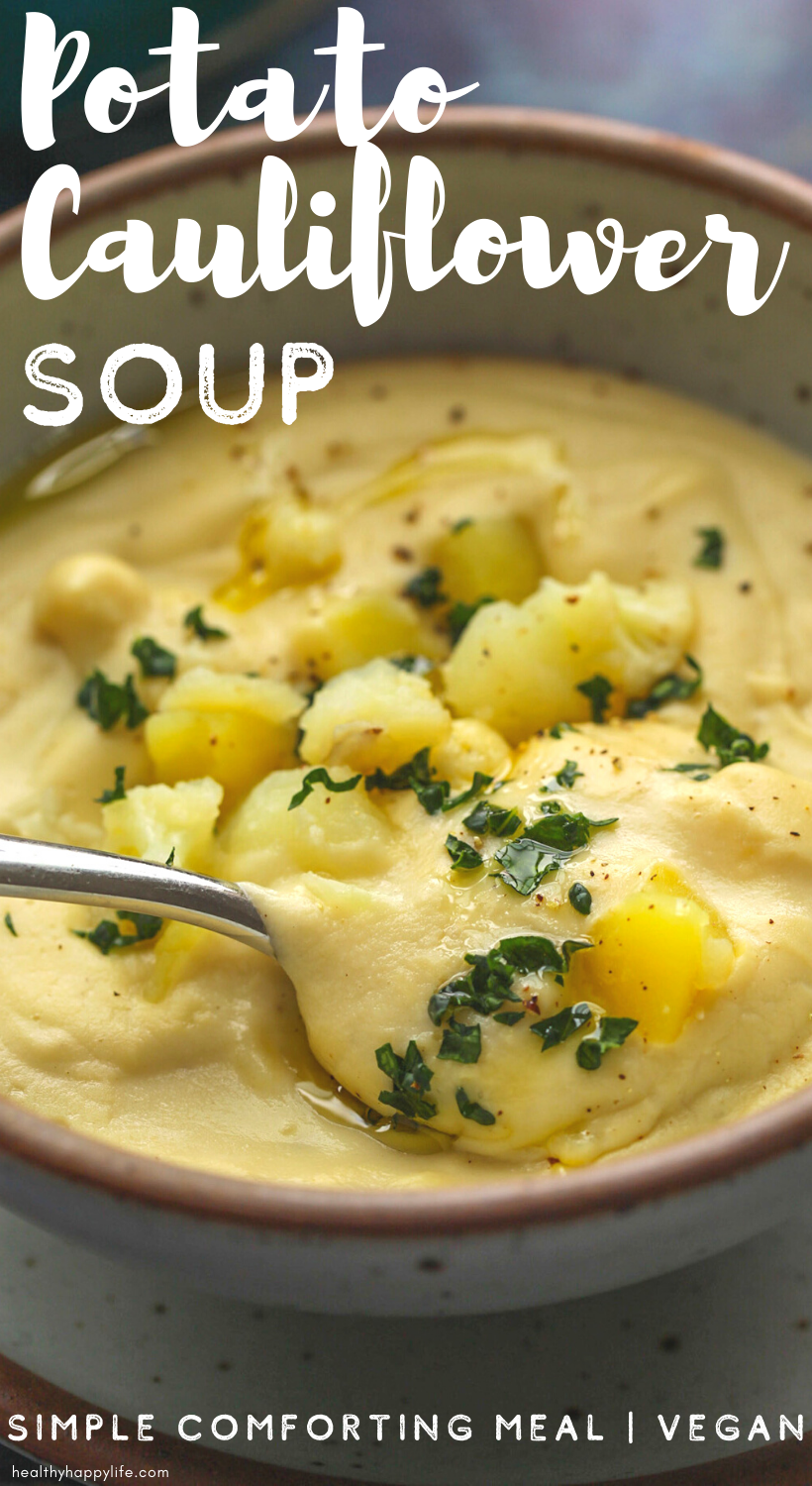 potato cauliflower soup pin