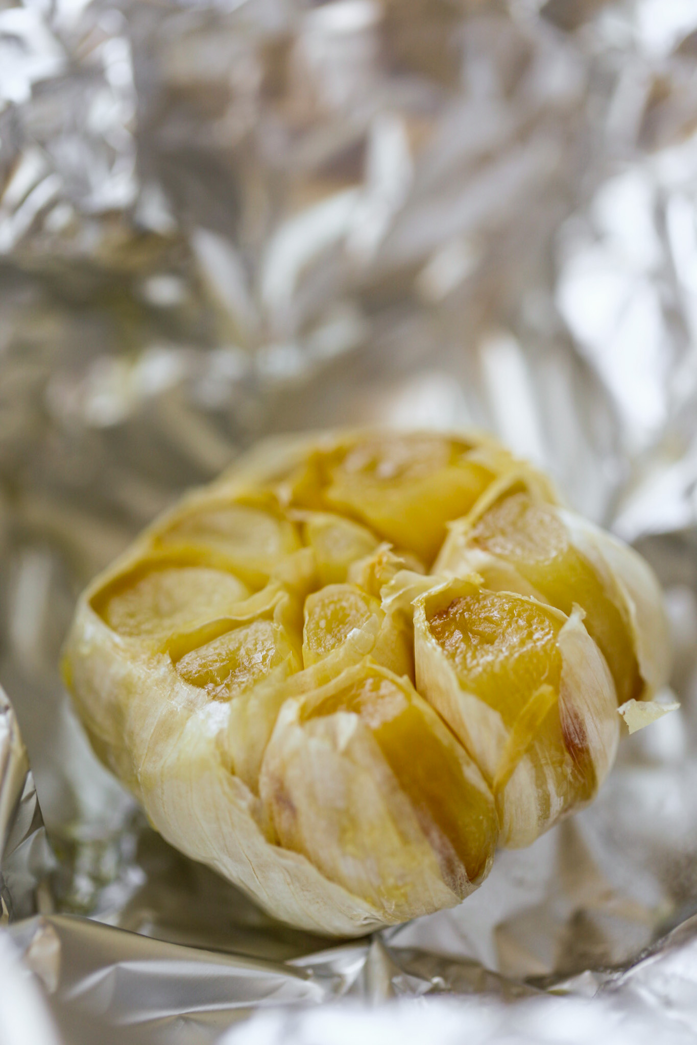 garlic roasted in a foil packet