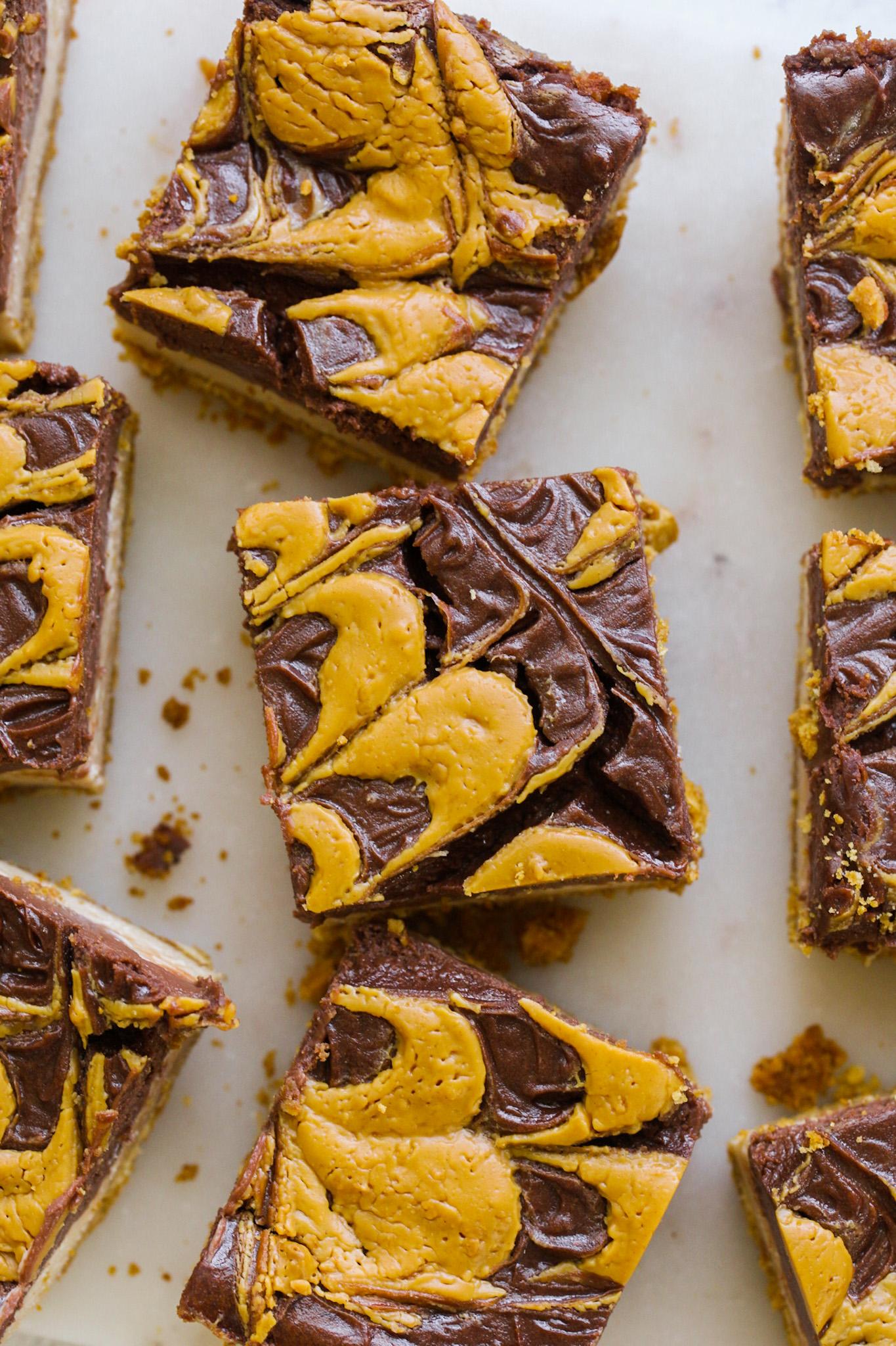 chocolate peanut butter cheesecake bites