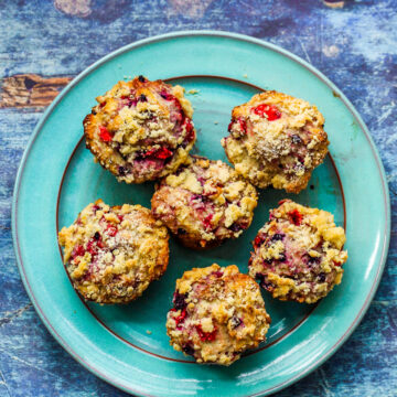 Double Berry Crumble Muffins