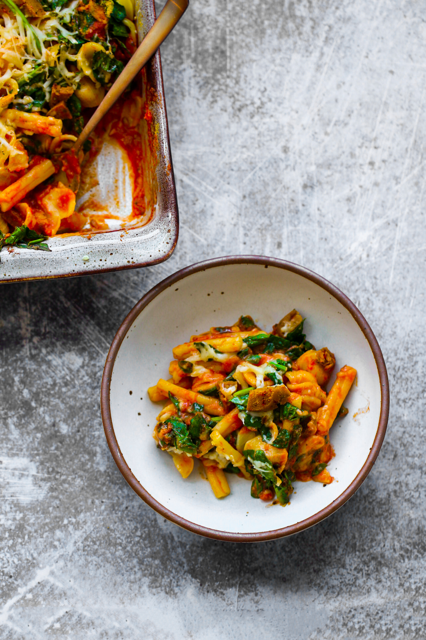 vegan pasta bake dinner
