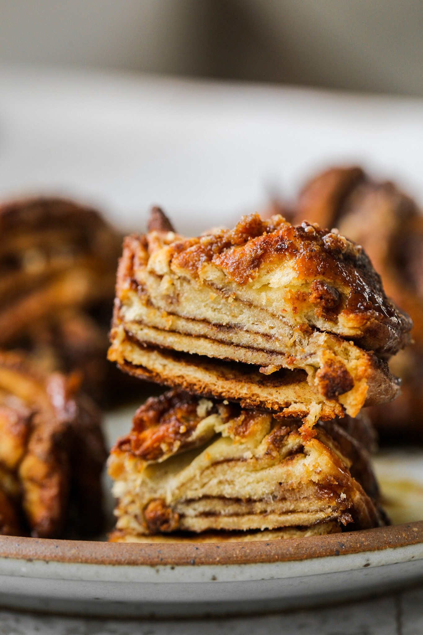 mini babka sliced