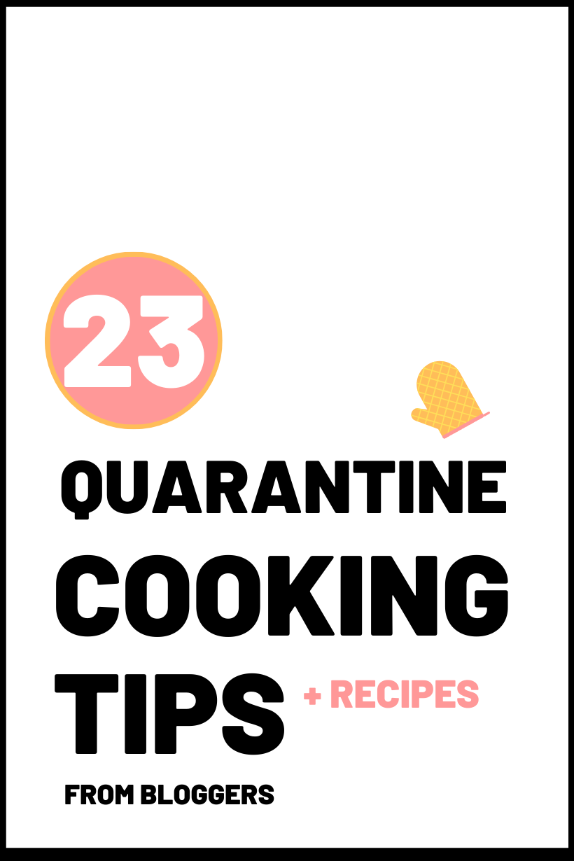 quarantine cooking tips