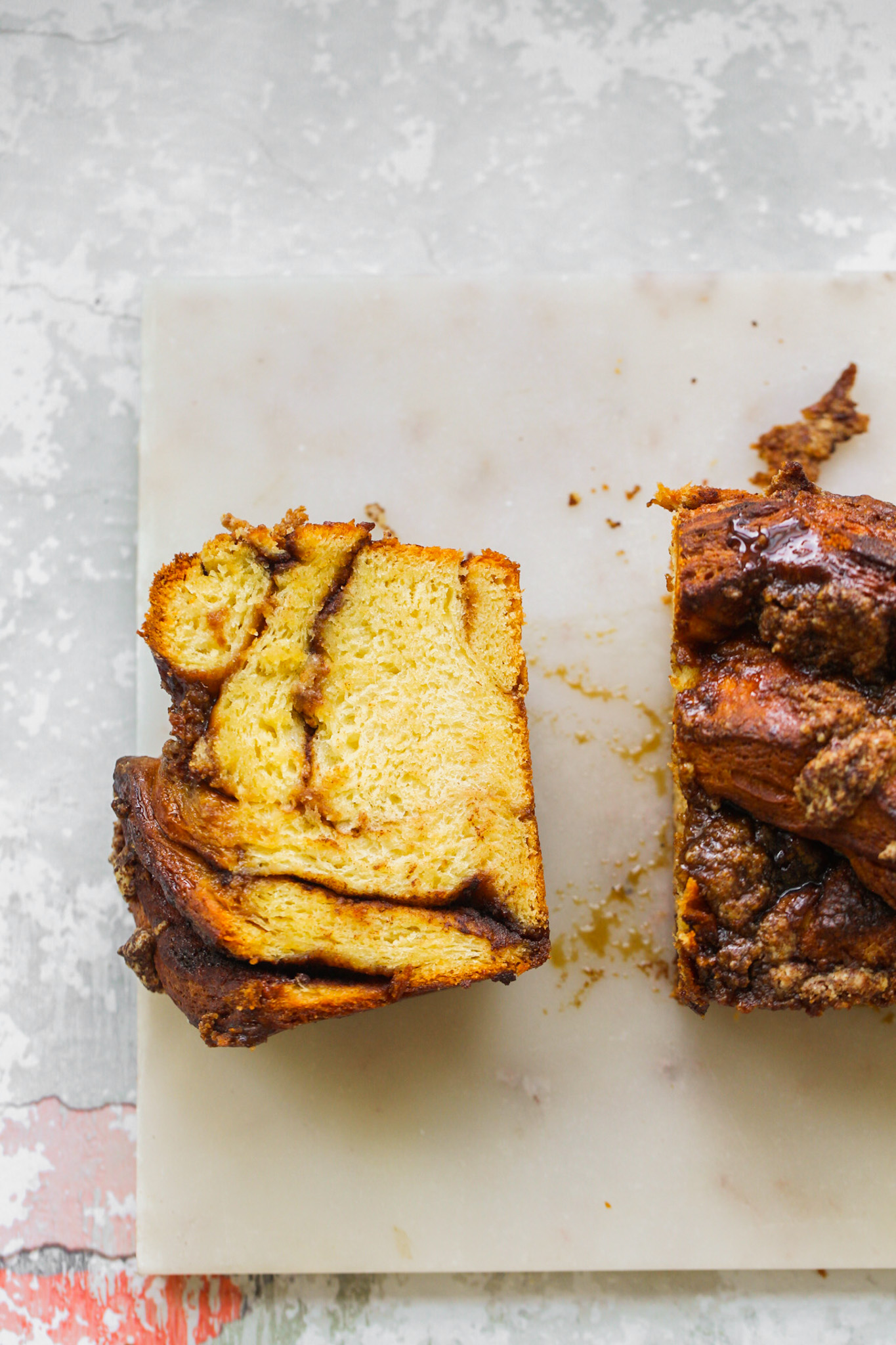 cinnamon babka sliced