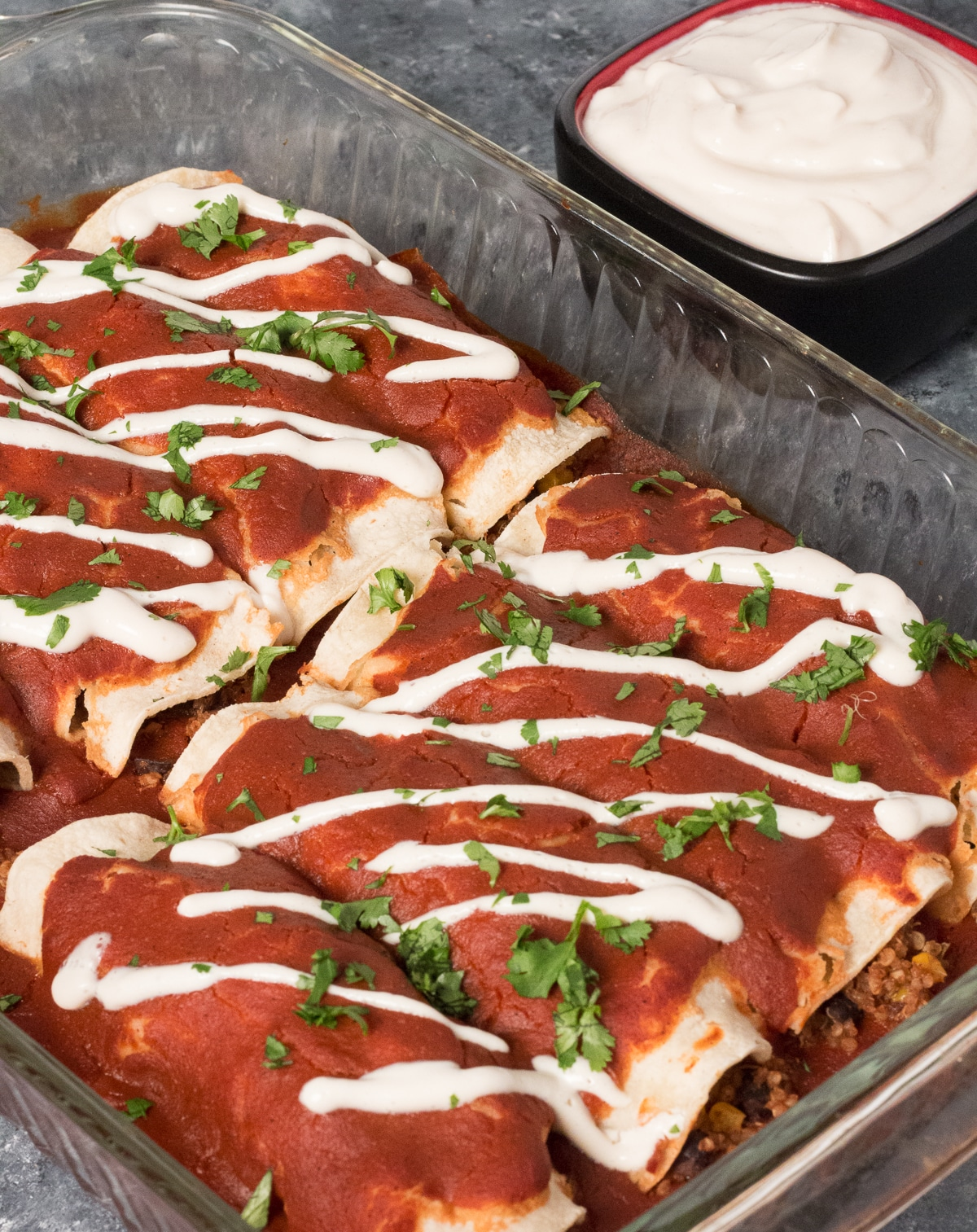 quinoa black bean enchiladas