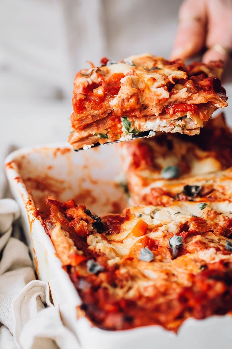 almond ricotta lasagna