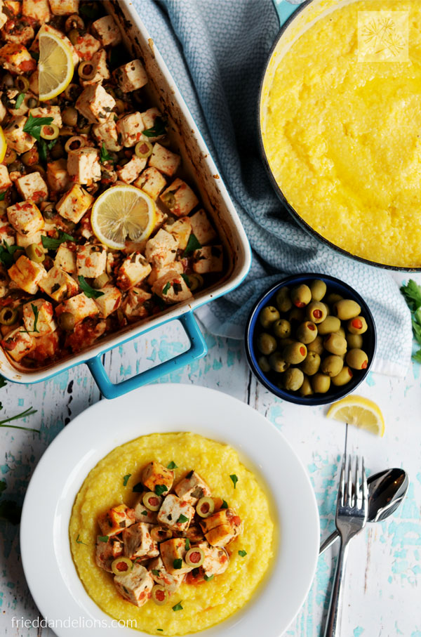 baked tofu and lemon casserole