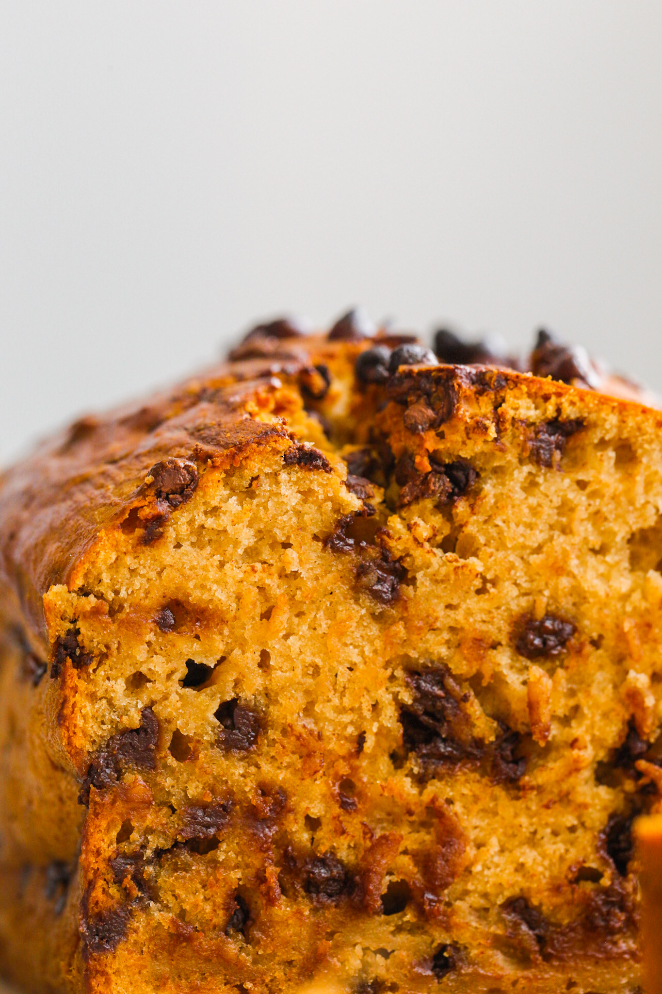 Chickpea Banana Bread with chocolate chips
