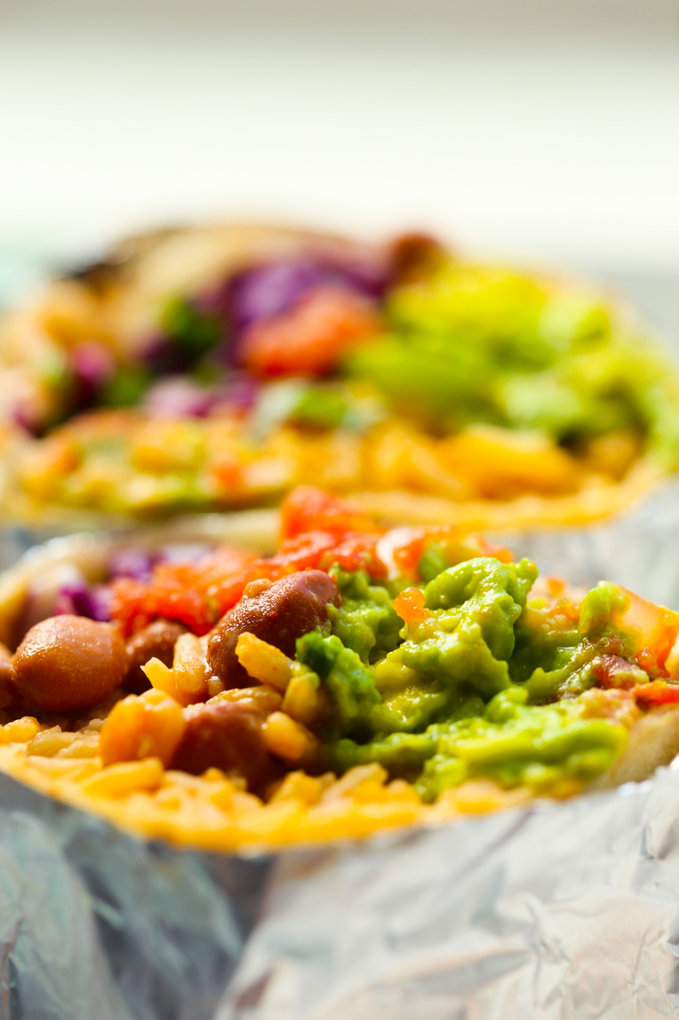 vegan filling close up burrito