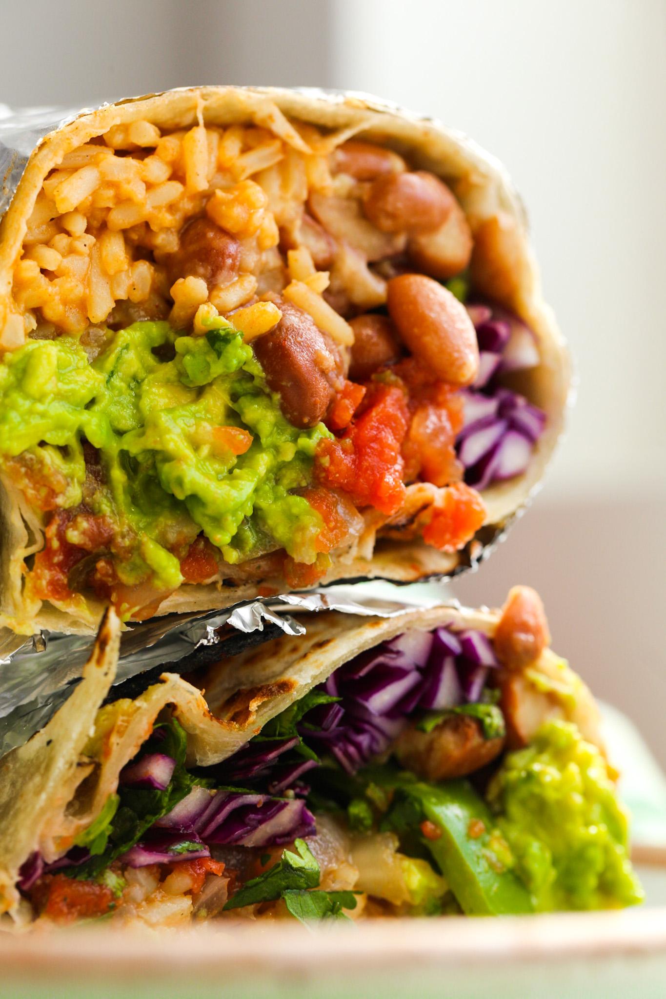 copycat chipotle veggie burrito