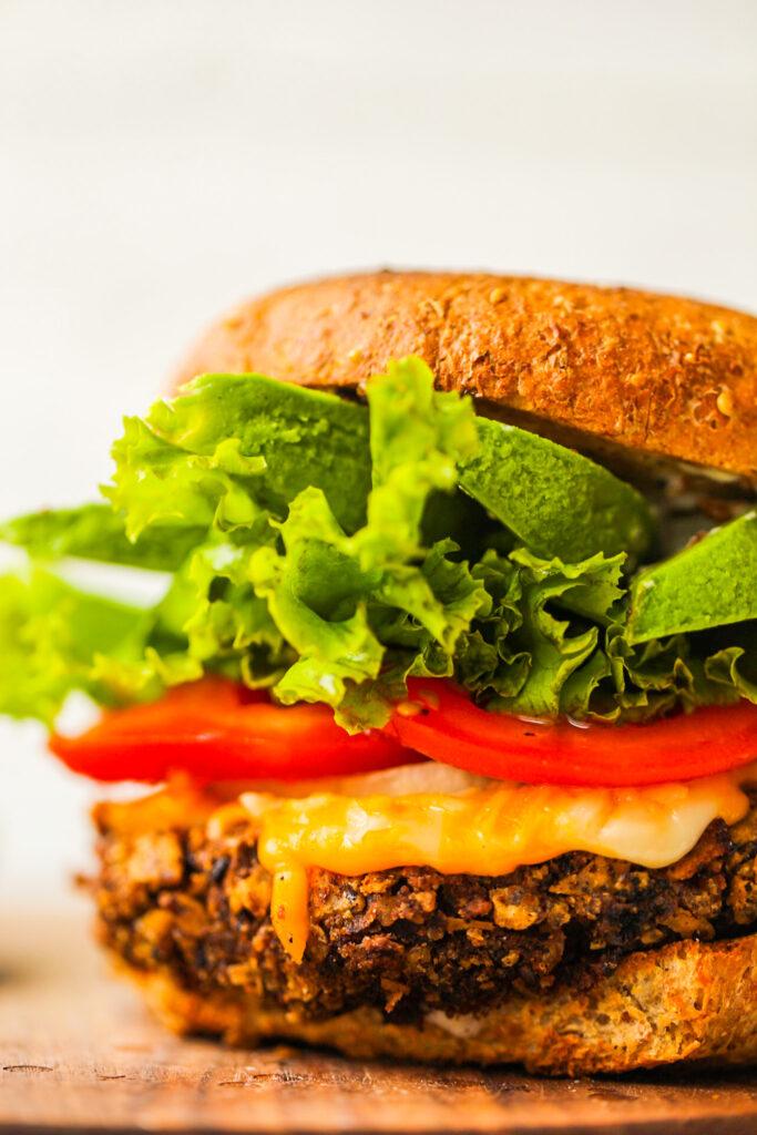 Fiesta Black Bean Burgers - HealthyHappyLife.com 2