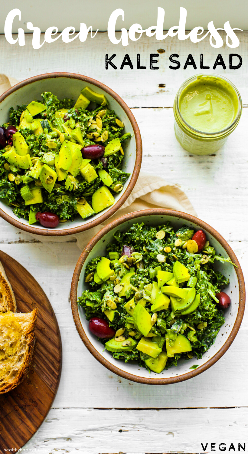 Ultimate Green Goddess Salad pin