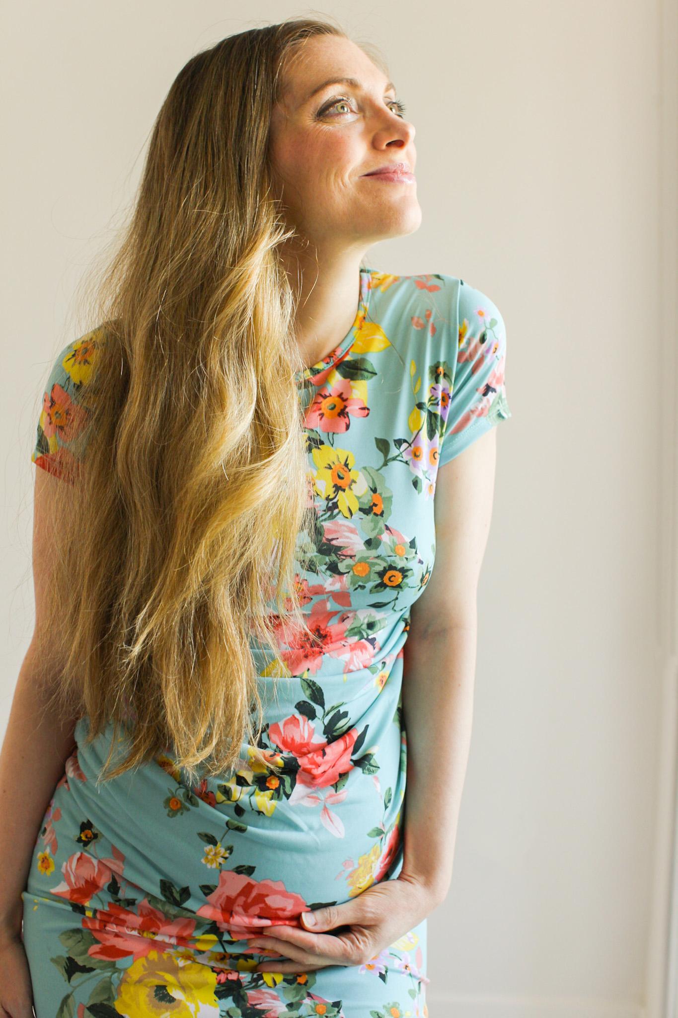29 weeks pregnant floral dress