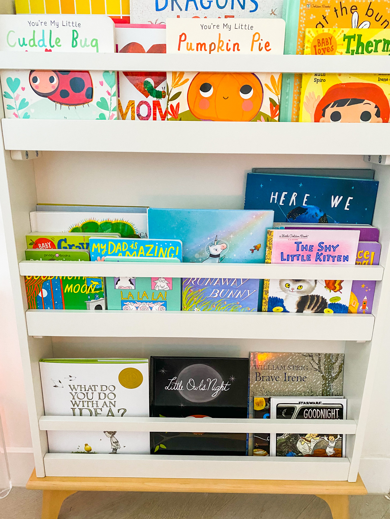 kids books on shelf baby