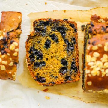 Pão de Limão com Mirtilo Fofo - HealthyHappyLife.com 2