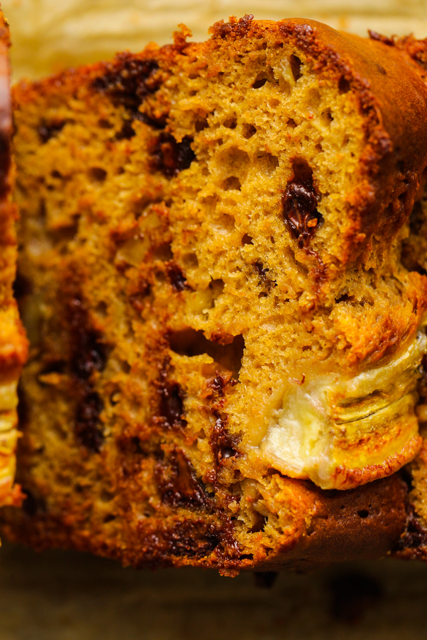 banana bread close up