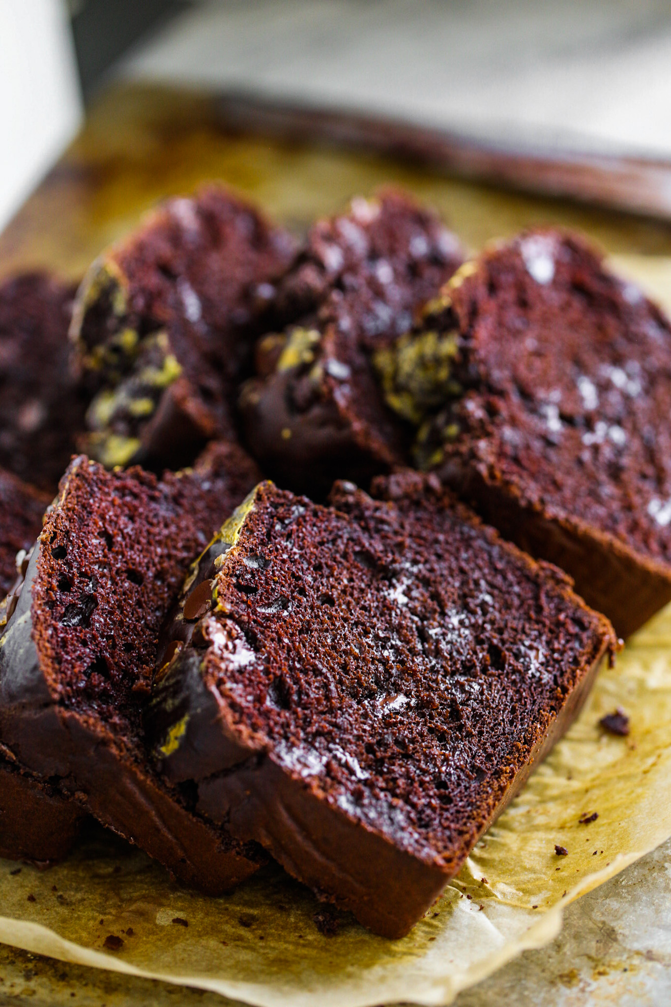 chocolate loaf slices