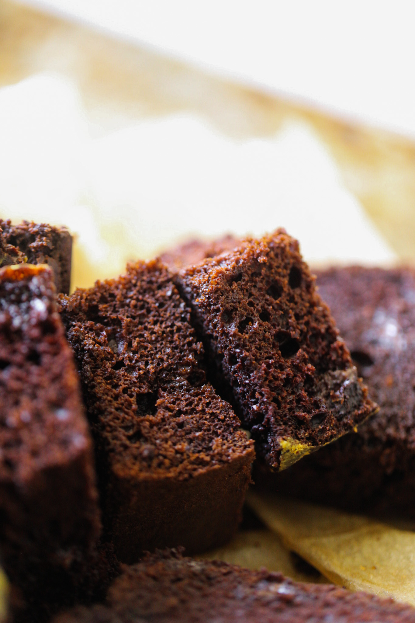 slices chocolate loaf