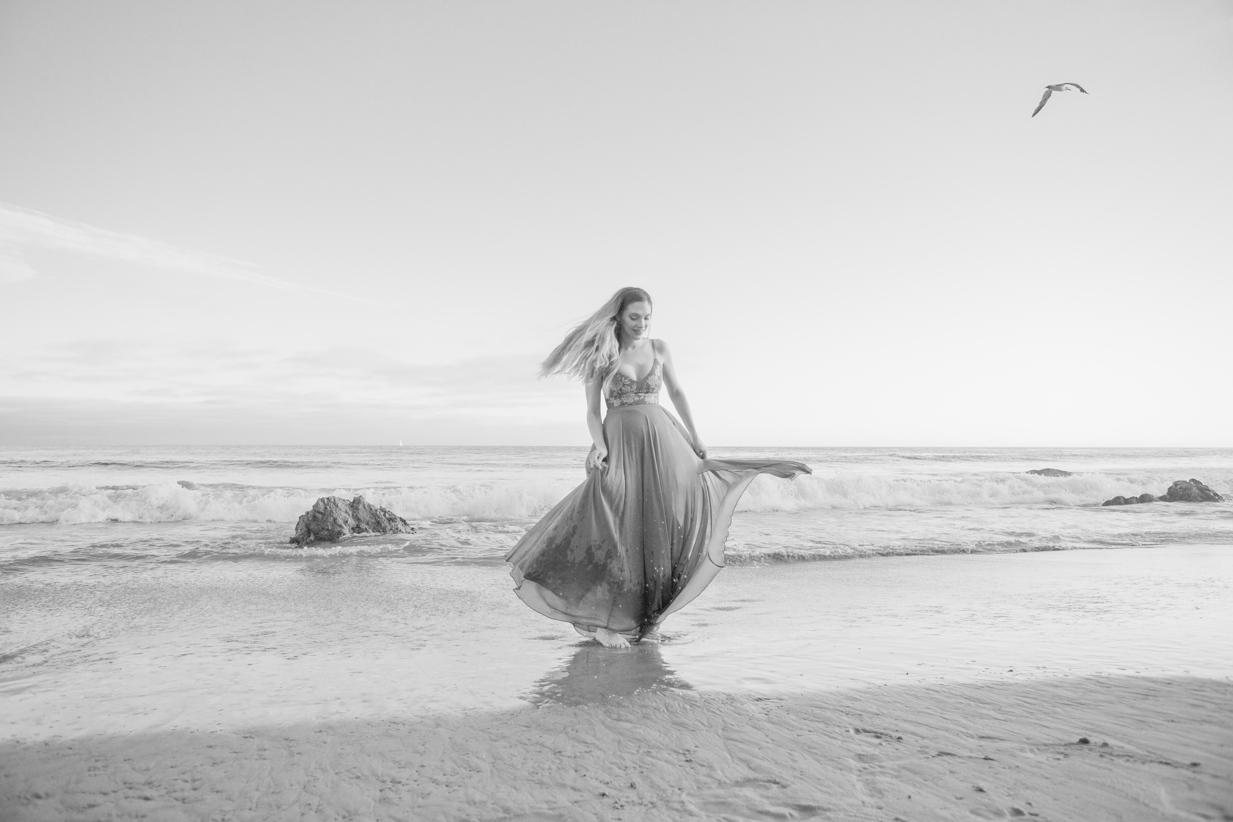 maternity photoshoot el matador beach