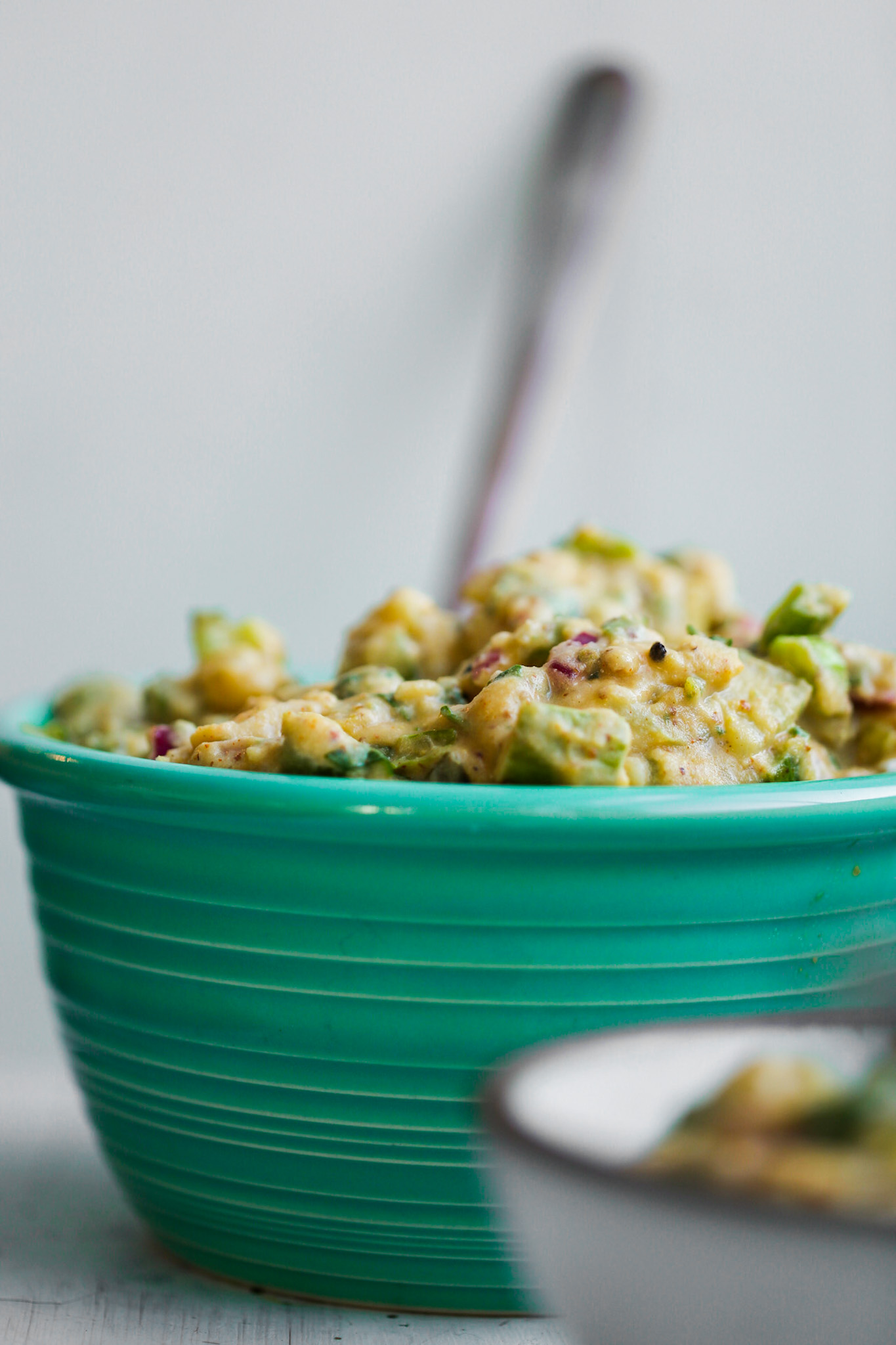 easy vegan potato salad in bowl