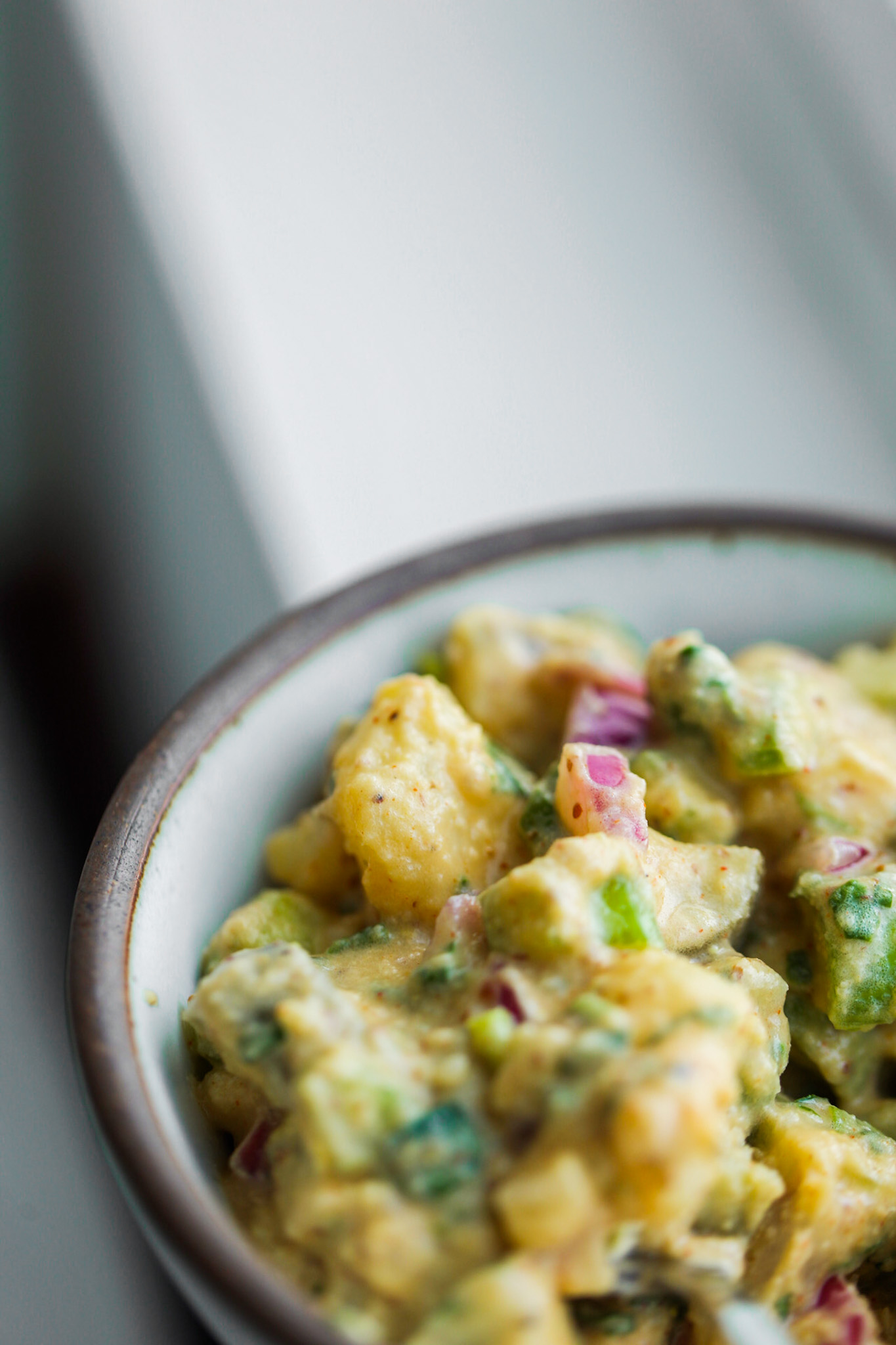 serving of vegan potato salad