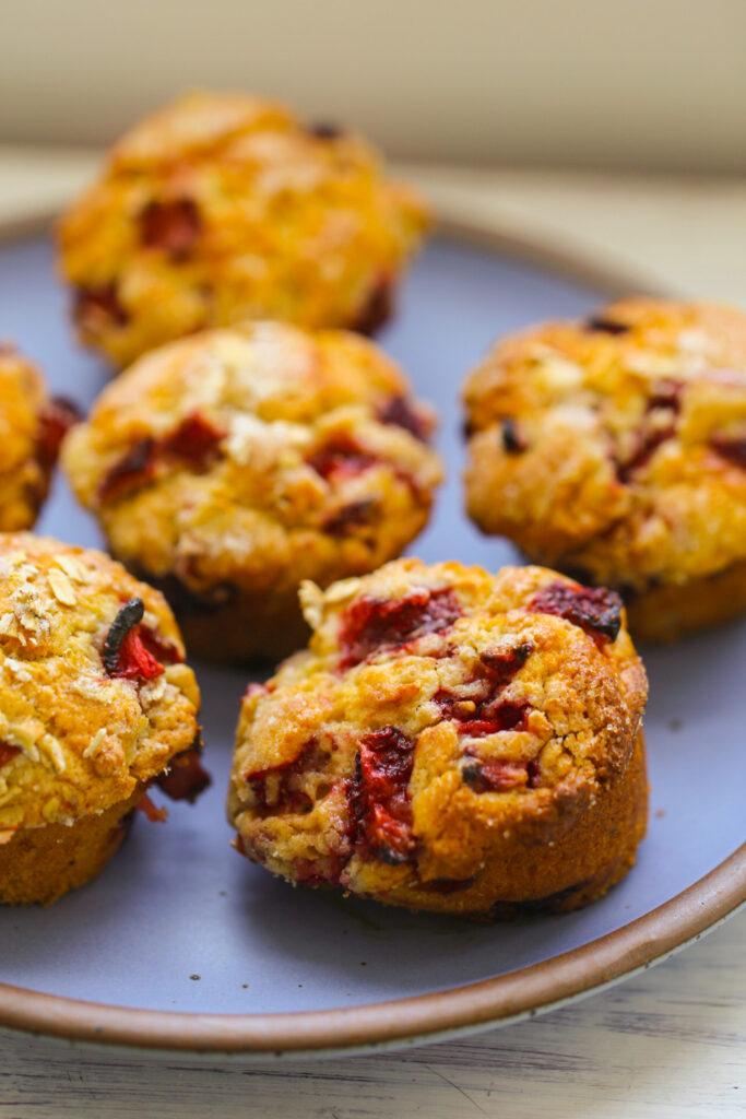 vegan strawberry muffins