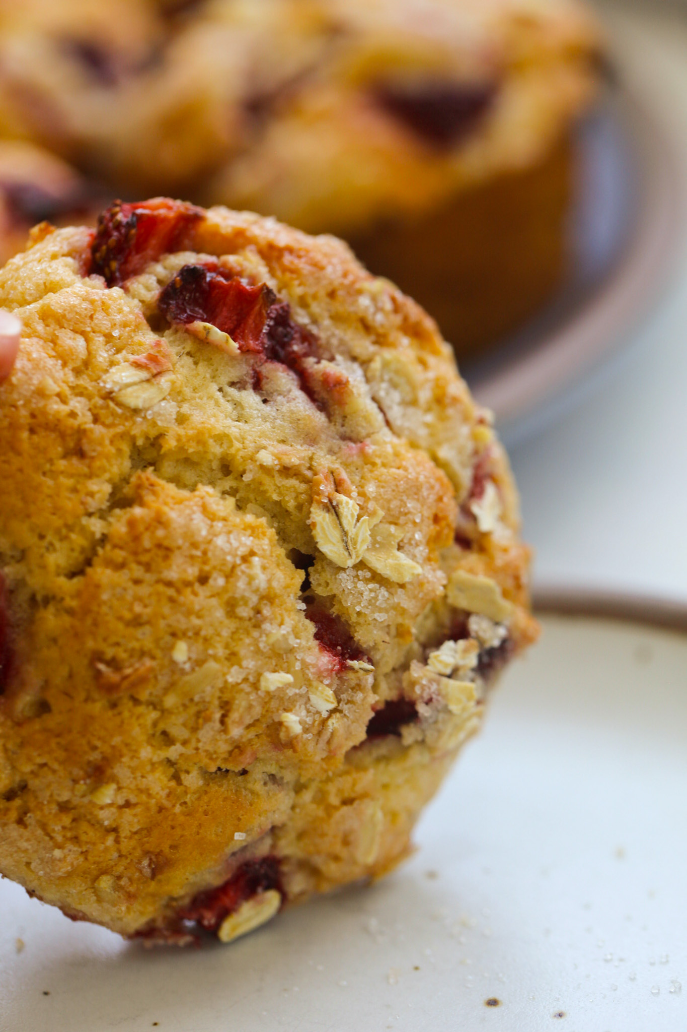 Muffin top with berries