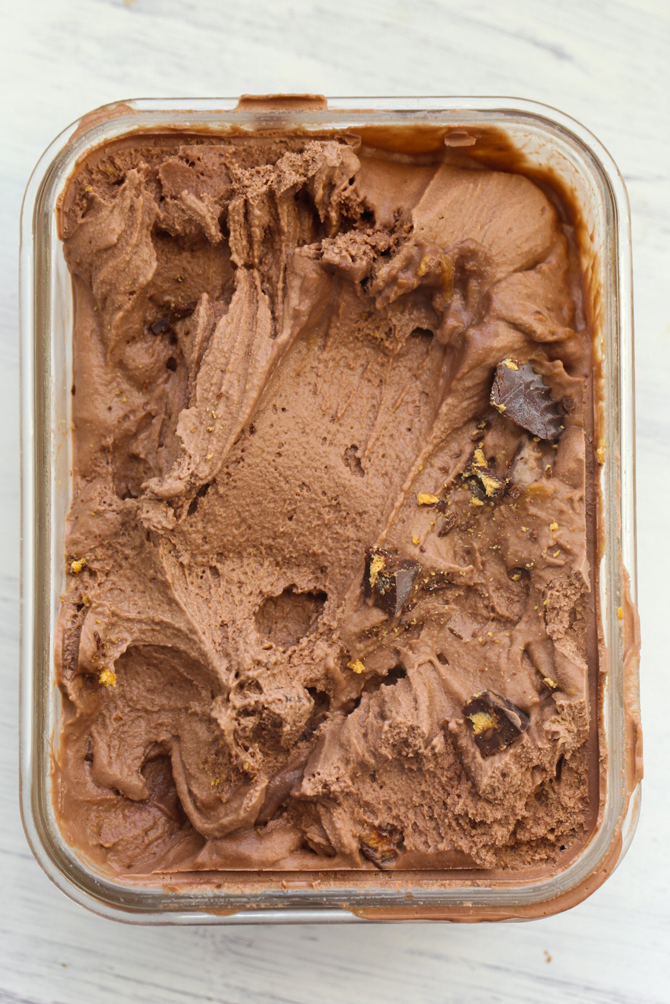 Chocolate Peanut Butter Ice Cream in container