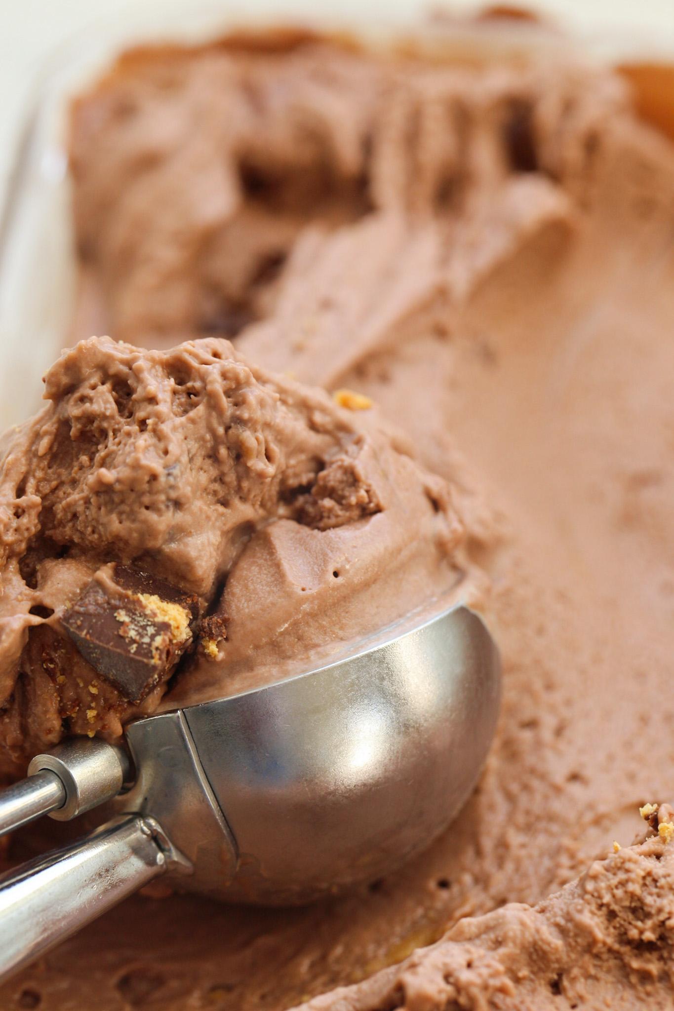 Scooping Dairy-Free Chocolate Peanut Butter Ice Cream