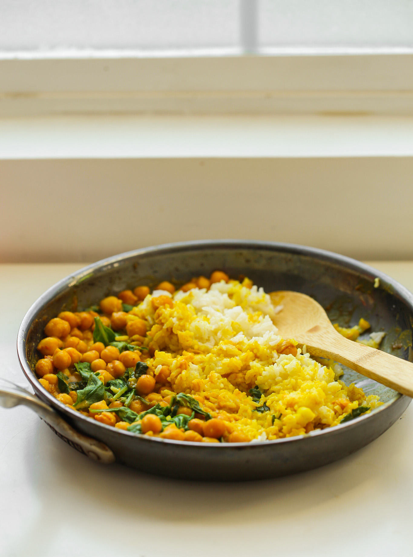 Veggie Rice Bowls skillet