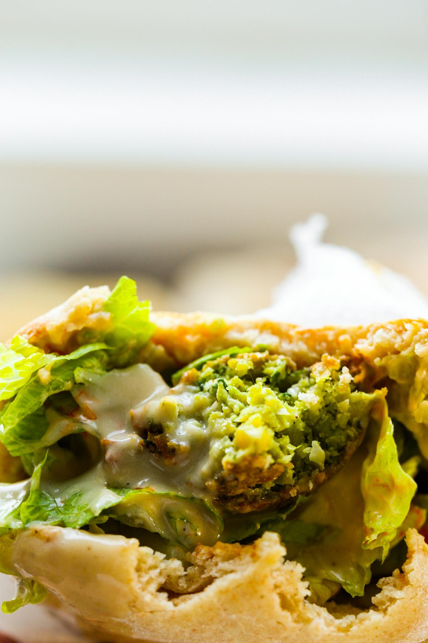 Classic Falafel Recipe Sandwich bite