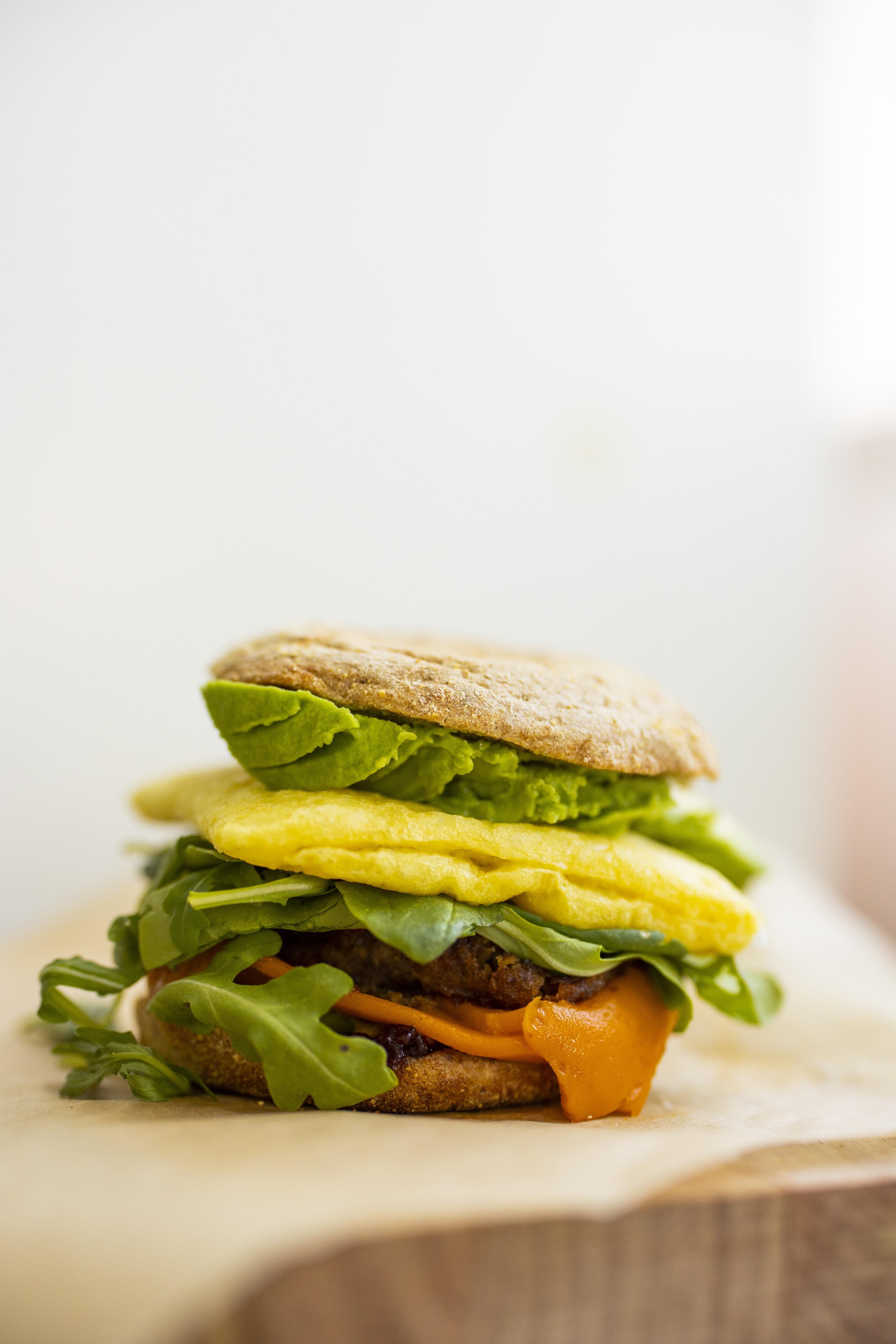 Kathy's Vegan Breakfast Sandwich