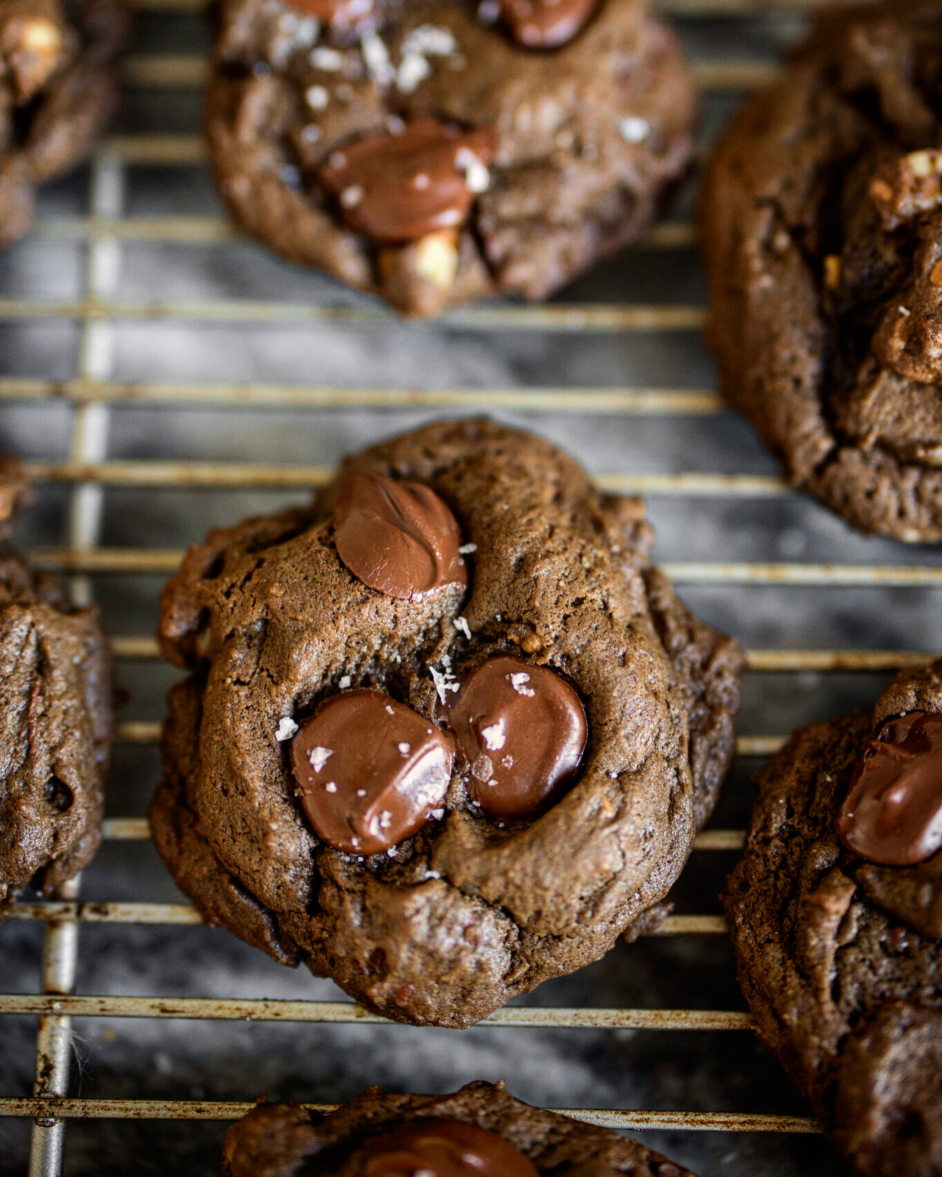 fleur de sel on chocolate cookies