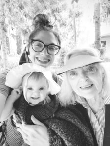 Grandma and us