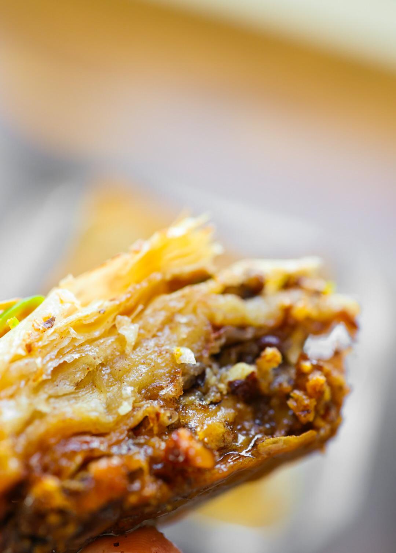 vegan baklava layers