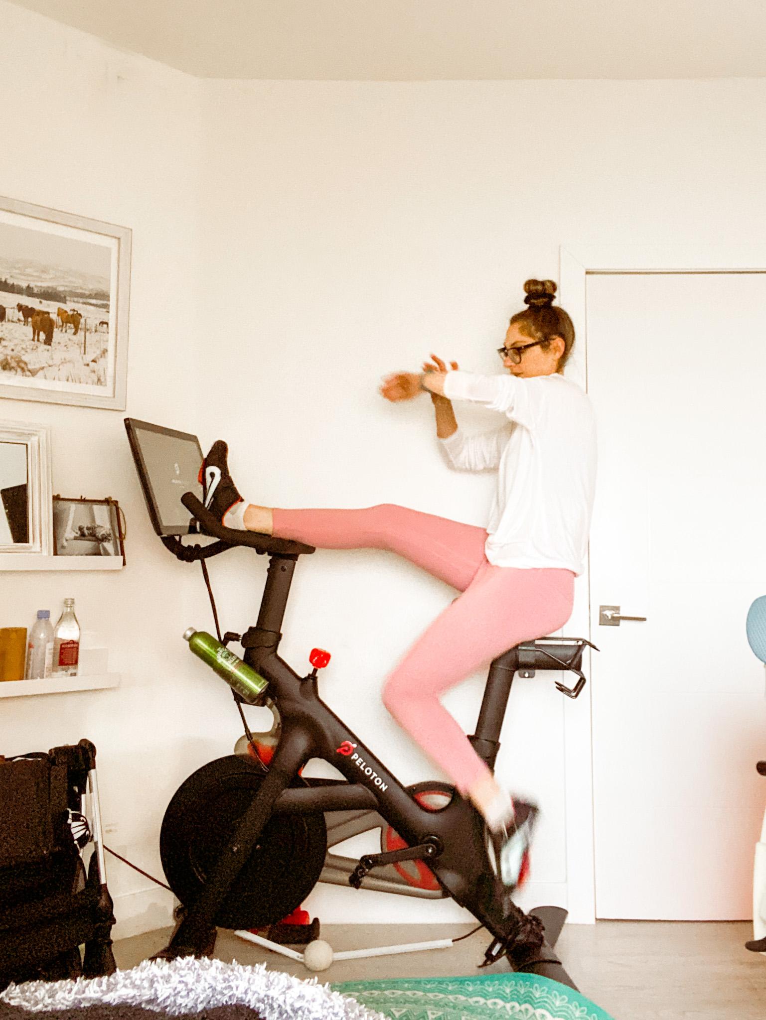 peloton ride pink pants