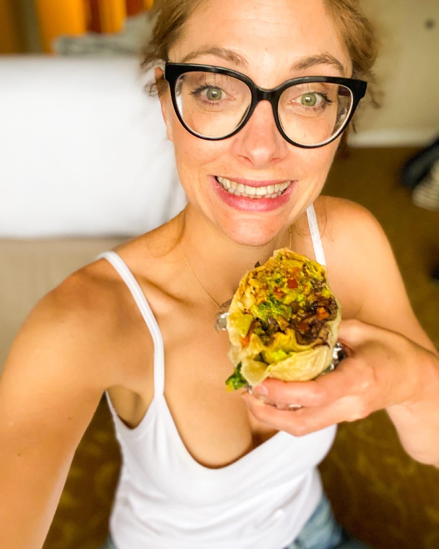 burrito from vegan restaurant