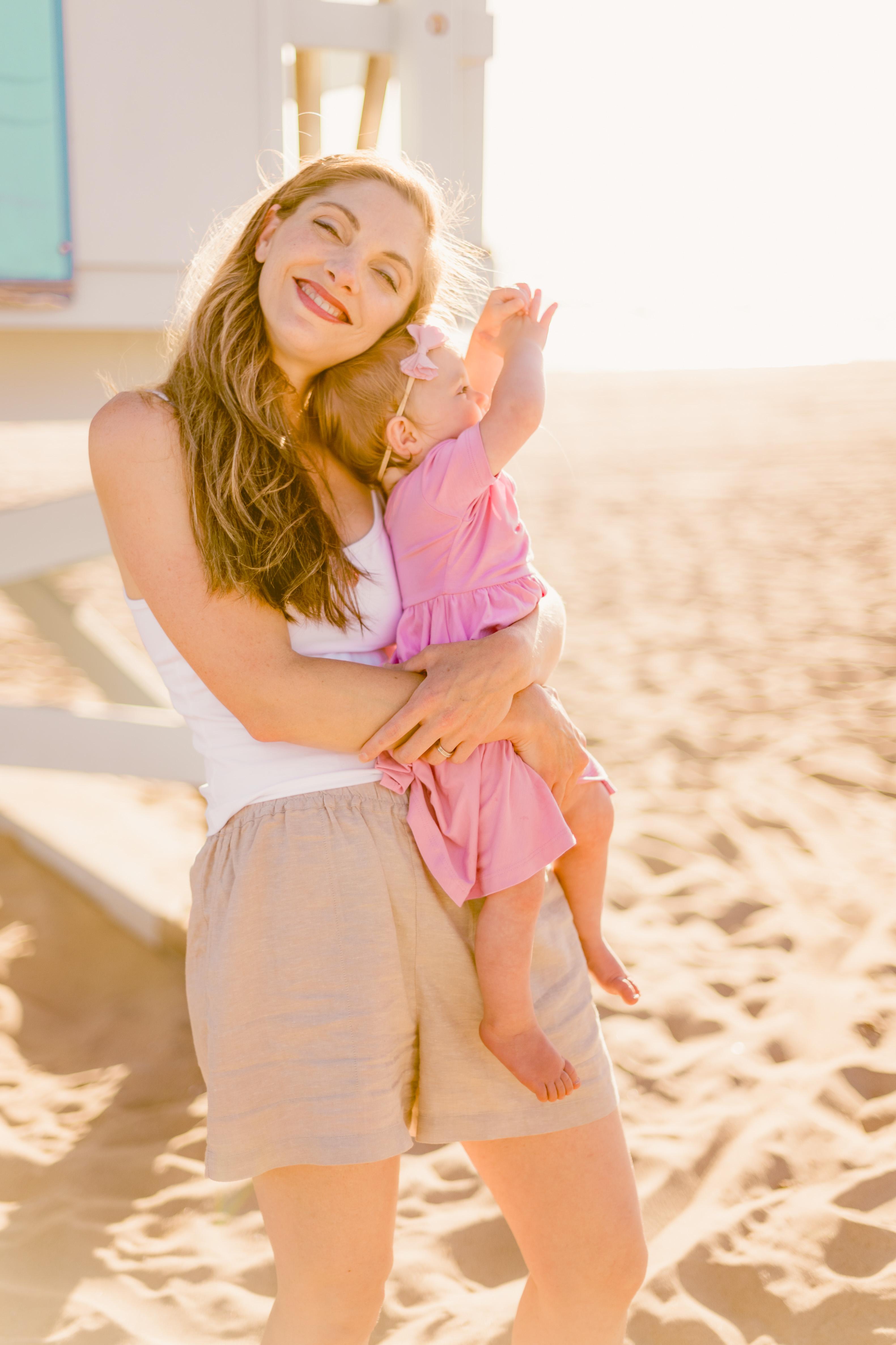 sunshine baby pink dress lifeguard tower