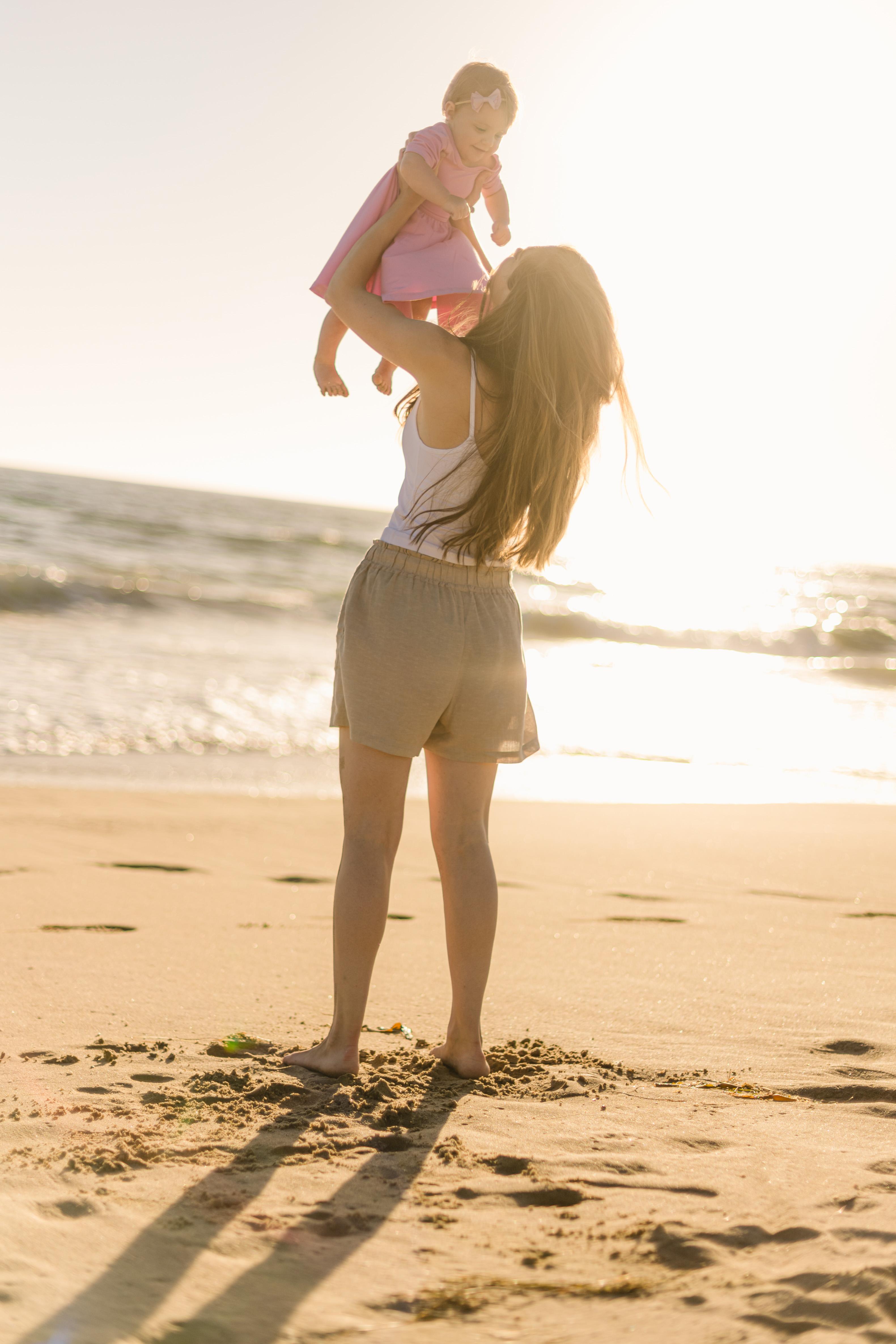 sunset baby beach photoshoot