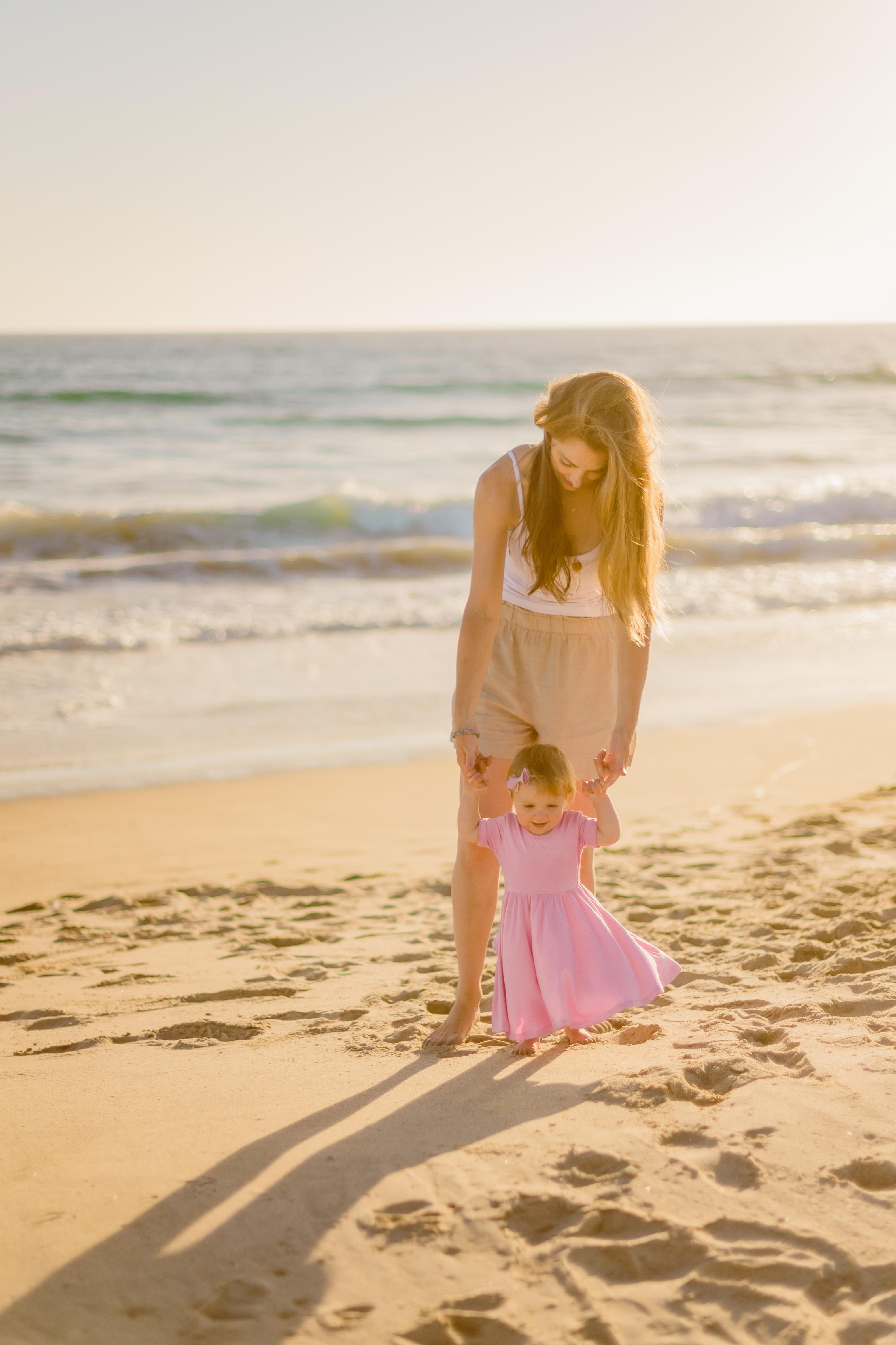 Rosalie mommy beach 10 months baby